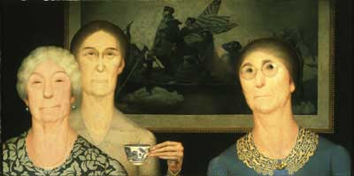 Daughters of Revolution, 1932-Grant Wood